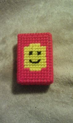 Lego MiniFig plastic canvas small Trinket Box by PaperPlasticOr31, $6.42