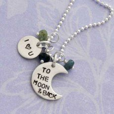 I Love You To The Moon And Back Necklace by HeartOnYourWrist.com
