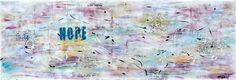 NEW PAINTING  Reflections I  40x120 cm  My website: https://artbylonfeldt.dk/  #art #arts #paintings #painting #fineart #artbylonfeldt