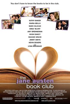 The Jane Austen Book Club , starring Kathy Baker, Hugh Dancy, Amy Brenneman, Maria Bello. Six Californians start a club to discuss the works of Jane Austen, only to find their relationships -- both old and new -- begin to resemble 21st century versions of her novels. #Comedy #Drama #Romance