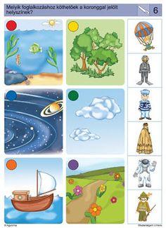 a mi utunk: mesterségek Folder Games For Toddlers, Logic Games For Kids, File Folder Activities, Brain Activities, Montessori Activities, Activities For Kids, Teaching Kids, Kids Learning, Preschool Jobs