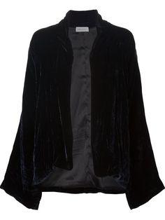 Beau Souci a-line velvet jacket