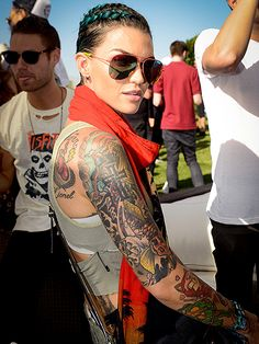 Star Tracks: Monday, April 18, 2016 | RED HOT RUBY | Ruby Rose looked very cool at the 1OAK and Up&Down pop-up pool party, sponsored by Casamigos and Bumble, at Coachella on Friday.