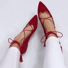 Perfect red flats! liketoknowit wwwliketkit1zKcb liketkit