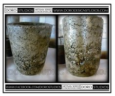 Artisan Series Vase - Handcrafted Concrete Decor - Rustic Style - Conversation Piece  https://www.etsy.com/listing/226318321/artisan-series-vase-handcrafted-concrete