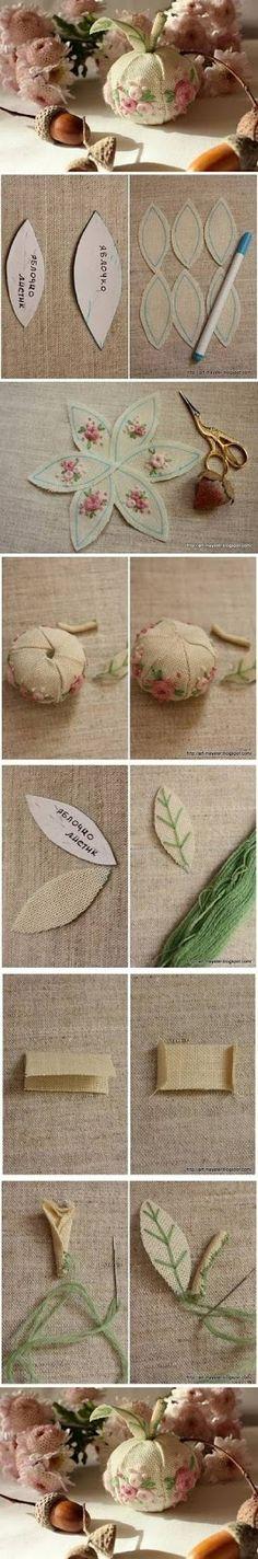 ARTE COM QUIANE - Paps, Moldes, E.V.A, Feltro e Costuras: Molde maçã de tecido com peças prontas para se inspirar
