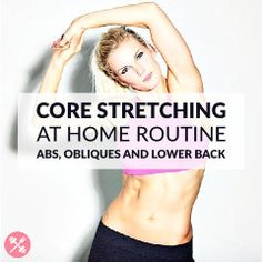 Add this static stretching routine at the end of your core workout. Ab, oblique and lower back stretches to increase your flexibility and release all tension. http://www.spotebi.com/workout-routines/core-static-stretching-exercises/
