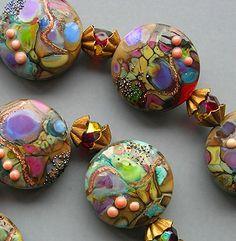 detail of lampwork beads
