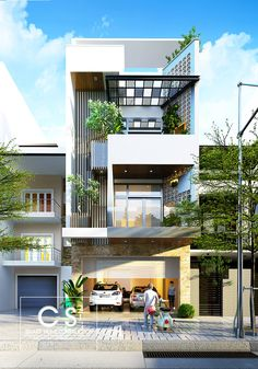 Modern House Designs for Small Blocks 50 Narrow Lot Houses that Transform A Skinny Exterior Into Architecture Design, Facade Design, Exterior Design, Farmhouse Architecture, House Front Design, Small House Design, Modern House Design, Villa Design, Narrow House Designs