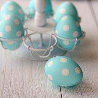 Light Blue & White Polka Dot Eggs