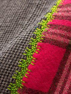 Bazar et Garde-Manger ***wonderful seam detail & idea of combining difference fabrics!!! s-c