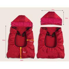 1eb1ae22cb6 Bebamour Universal Baby Carrier Cover for Winter Warm Rain Cover (Dark  Purple)  Amazon