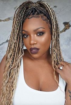 Keep reading for some major box braids inspo, from loose braids to half updos or messy ponytails, as well as the best practices to protect your hair while in braids! Black Box Braids, Large Box Braids, Blonde Box Braids, Jumbo Box Braids, Box Plaits, Box Braids Hairstyles, Protective Hairstyles, Protective Styles, Hair Inspo