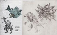 More Kaiju concept sketches Character Concept, Concept Art, Wayne Barlowe, Monster Design, Pacific Rim, Tentacle, Sci Fi Art, Creature Design, Fantasy Creatures
