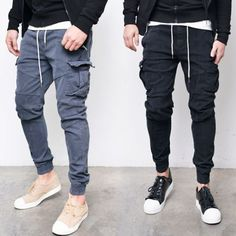 Stone Washed Slim Cargo Jogger-Pants 211 by Guylook.com