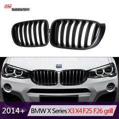 f3ff4c343930 Aliexpress.com   Buy F25 Replacement Car Styling Racing Grille For BMW X3  F25 X4 F26 M Sport Design ABS Front Bumper Grill 2014+ from Reliable bumper  grille ...