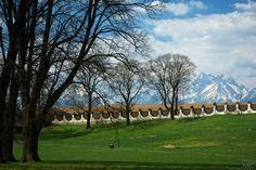 View from castle park by Milan Cernak, via Countryside, Milan, Golf Courses, Castle, Explore, Park, Beautiful, Castles, Parks