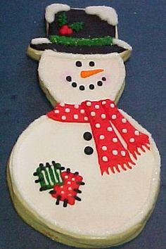 CUTE snowman Christmas cookie winter