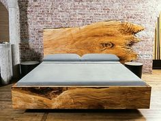 Maple wood bed frame