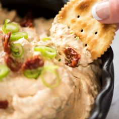 If you love sun dried tomatoes, you will go mad over this dip! Sun Dried Tomato Dip is creamy dip bursting with sun dried tomato flavor. A hit at any gathering!