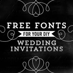 A beautiful collection of free fonts, perfect for DIY wedding invitations + more.