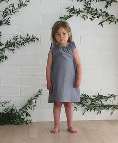 Image of Willa Dress in Chambray Herringbone