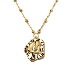 Colleen Atwood Enamel Clock Drop Necklace