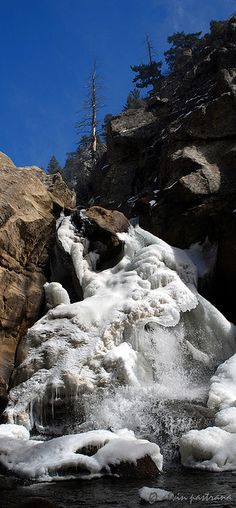 Frozen Boulder Falls,Colorado