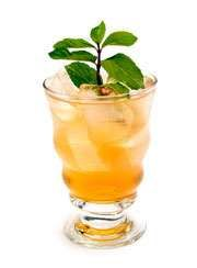 Irish Jig - YUMMY!  And very easy to make!  1 Jigger Whiskey on ice and half and half of Ginger Ale and Peach Nectar.  Smooth.