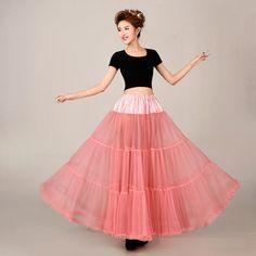 50s Vintage Crinoline Bridal Dance Petticoat Underskirt Wedding Girls Skirt Slip #Petticoat