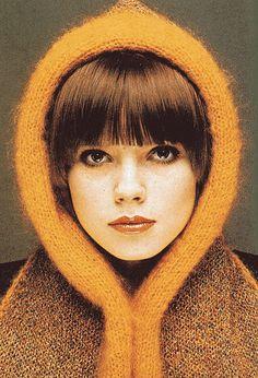 vintage knitted hood