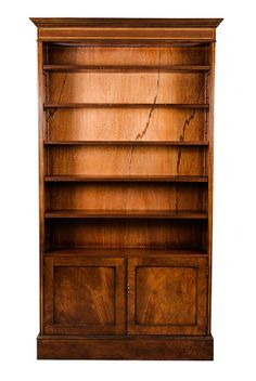 mahogany triple bowfront bookcase book shelves shelves and woods - Mahogany Bookshelves