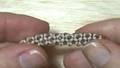 Tubular beadwork tutorial (Chenille Stitch): a simple idea for a tubular beadwork