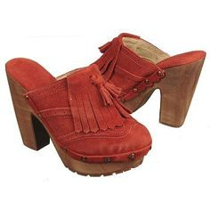 BED:STU Goldie Shoes (Red Suede) - Women's Shoes - 7.0 M