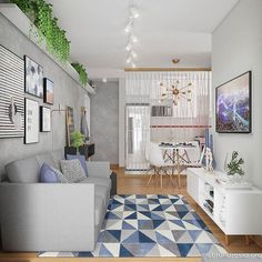 10 Dreamy ways to make your studio apartment look bigger - Daily Dream Decor Home Living Room, Interior Design Living Room, Living Room Designs, Living Room Decor, Design Interiors, Interior Modern, Modern Decor, Studio Apartments, Dream Decor