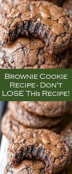 Brownie Cookie Recipe - Don't LOSE Thіѕ Recipe! #Cake #Yummy #Recipe Cake Recipes From Scratch, Cake Mix Recipes, Sweets Recipes, Fun Desserts, Cookie Recipes, Beef Recipes, Easy Recipes, Basic Butter Cookies Recipe, Chocolate Cake Recipe Easy