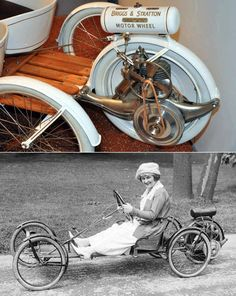Early Low-Cost Transportation Design: A Powered Fifth Wheel - Vintage Cars, Antique Cars, Pedal Cars, Transportation Design, Go Kart, Motor Car, Motor Vehicle, Travel Trailer Remodel, Travel Trailers
