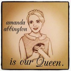 Amanda Abbington is our Queen! She's been getting a lot of hate since people started the rumor she's Mary Morstan, and I think it's shameful. She's going to be great, no matter what role she has!