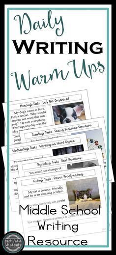 Give students a quick way to sharpen their writing skills -- daily warm ups provide revision and writing practice for writing workshop, literacy centers or warm ups.