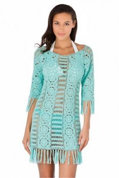 LETARTE Salt Water Taffy Crochet Dress Mint $349.99 SHIPPED FREE~~ALSO FREE LOCAL DELIVERY NOW AVAILABLE WITHIN 10 MILES OF SANTA MONICA, CALIFORNIA