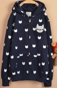 Zipper Cats Hoodie - Crazy Cat Lady Clothing