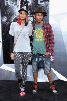 Pharrell Williams And Helen Lasichanh Style