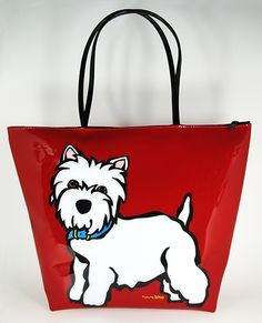 Westie Zipper Tote Bag Marctetrostore.com