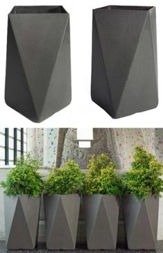 Concrete planters in geometric shape look good in every space- AS Interior Designer www.bcnumber3.com Building