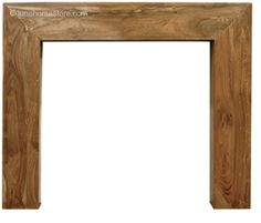 Nevada Fireplace Surround Natural Hardwood      Solid Sheesham     Available in Natural finish     (version shown)     Suitable for all our cast iron insets Online Sale Price: £245.00 r.r.p: £296 saving: £51