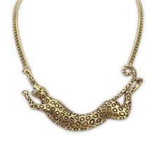 gold-plated leopard necklace