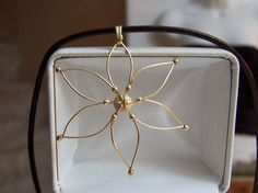 Floral Star Pendant Necklace Gold Filled by ExquisiteStudios