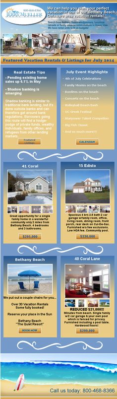 """You are invited to sign up for our """"Real Estate At the Beach"""" newsletter https://www.sellsproperty.com/about-us/our-newsletter  Check out our July Newsletter pic below!"""