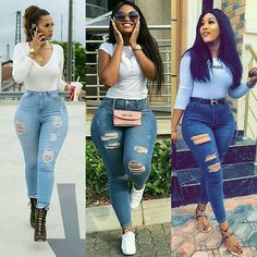 Get the best look of creative latest designs and african fashion styles that are recently trendy and . Get the best look of creative latest designs and african fashion styles that are recently trendy and . Thick Girls Outfits, Curvy Girl Outfits, Curvy Girl Fashion, Cute Swag Outfits, Classy Outfits, Stylish Outfits, Denim Fashion, Look Fashion, Fashion Outfits