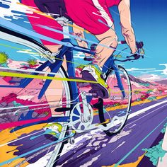 Illustration, Design & Art Direction by Andrew Archer of Melbourne, Australia. Creating innovative and original imagery for agencies, brands and people. Art And Illustration, Bicycle Illustration, Gravure Illustration, Illustrations, Pop Art, Bike Poster, Bicycle Art, Cycling Art, Sports Art